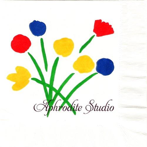 北欧 廃盤 レア柄 ヴィンテージ マリメッコ シンプルフラワー お花 アメリカ製 1枚 バラ売り 34cm ペーパーナプキン marimekko