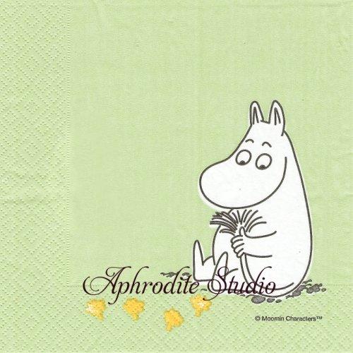 1パック20枚 北欧 ムーミン Moomin Green アラビアマグデザインシリーズ 33cm ペーパーナプキン MOOMIN Optodesign