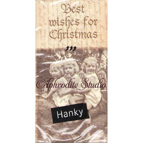 1パック10枚入 レトロな女の子たちの写真 21.5cm角 ポケットペーパーハンカチ 紙ハンカチ Paper+Design