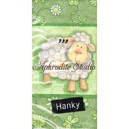1パック10枚入 可愛い羊 21.5cm角 ポケットペーパーハンカチ 紙ハンカチ Paper+Design