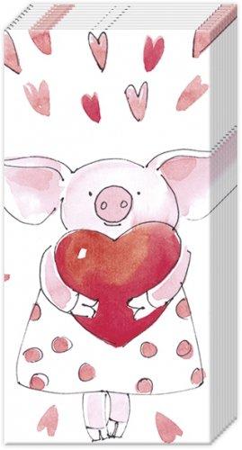 1パック10枚入 21cm角 PIGGY LOVE ポケットペーパーハンカチ 紙ハンカチ Ihr