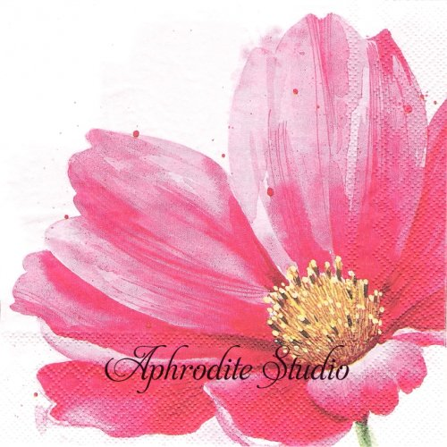 ALLY ピンクの一輪花1枚 バラ売り 33cm ペーパーナプキン Ihr