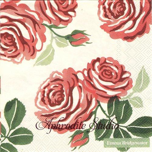 エマ・ブリッジウォーター PINK ROSES ピンクの薔薇 Emma Bridgewater 1枚 バラ売り 33cm ペーパーナプキン Ihr