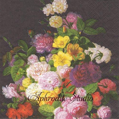 Barock Flower 絵画 花1枚 バラ売り 33cm ペーパーナプキン Atelier