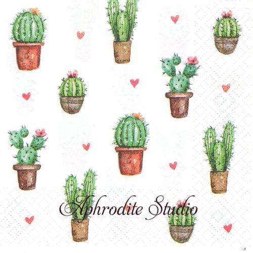 Cactus Love サボテン1枚 バラ売り 33cm ペーパーナプキン Atelier