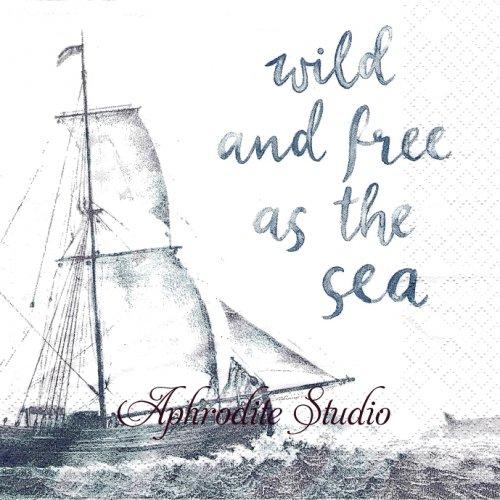 Wild and Free ヨット 海 1枚 バラ売り 33cm ペーパーナプキン HOME FASHION
