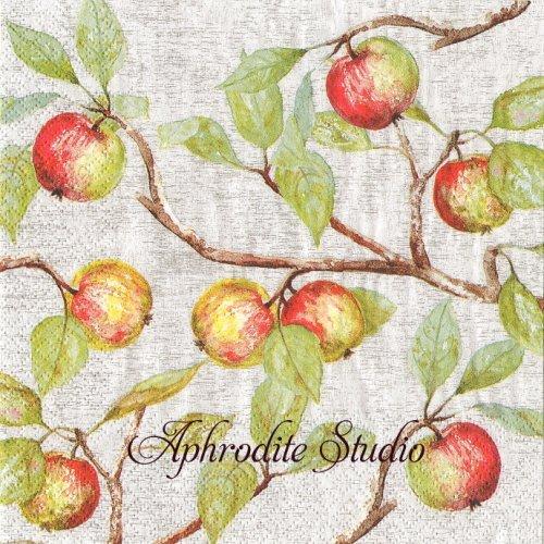 Apple Branches 林檎 アップル 1枚 バラ売り 33cm ペーパーナプキン HOME FASHION