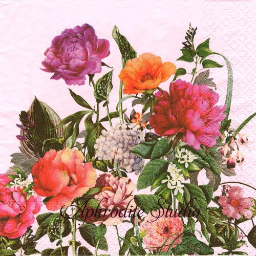 Bloom 花1枚 バラ売り 33cm ペーパーナプキン HOME FASHION