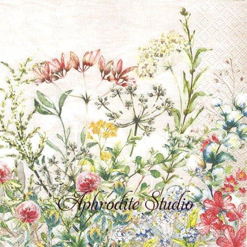 Wild Meadow 花畑1枚 バラ売り 33cm ペーパーナプキン HOME FASHION