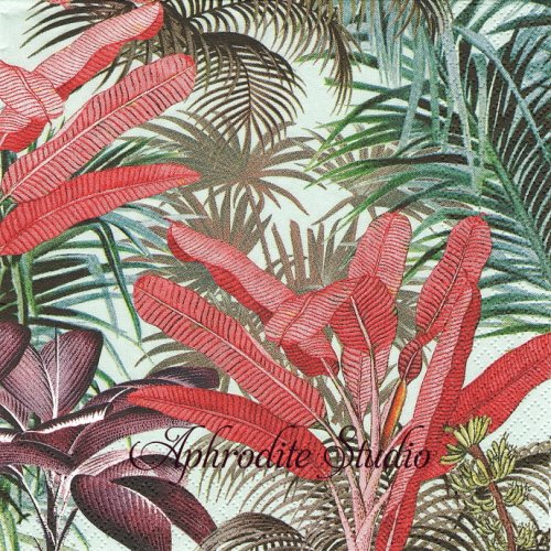 Tropical Plants 南国の植物 1枚 バラ売り 33cm ペーパーナプキン HOME FASHION