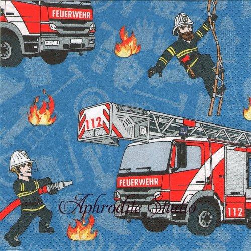 Fire Fighter ファイアーマン1枚 バラ売り 33cm ペーパーナプキン HOME FASHION