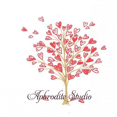 25cm Love Tree 1枚 バラ売り ペーパーナプキン Atelier
