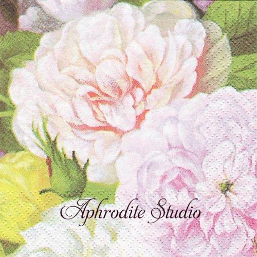 25cm Barock Flower 1枚 バラ売り ペーパーナプキン Atelier