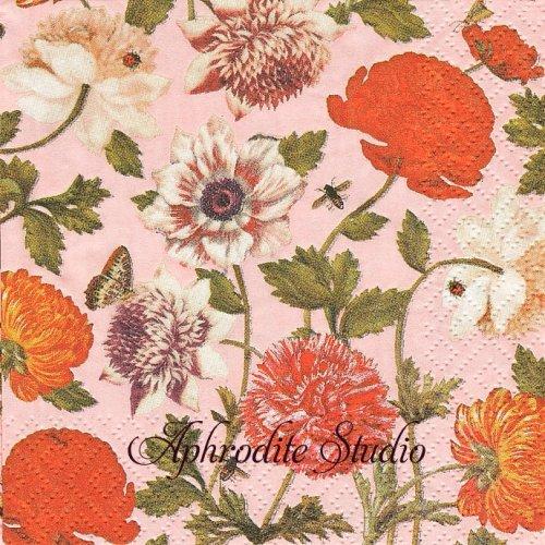 25cm Flora Botanica puder 1枚 バラ売り ペーパーナプキン Atelier