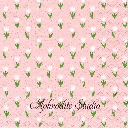 25cm Minitulips rosa 1枚 バラ売り ペーパーナプキン Atelier