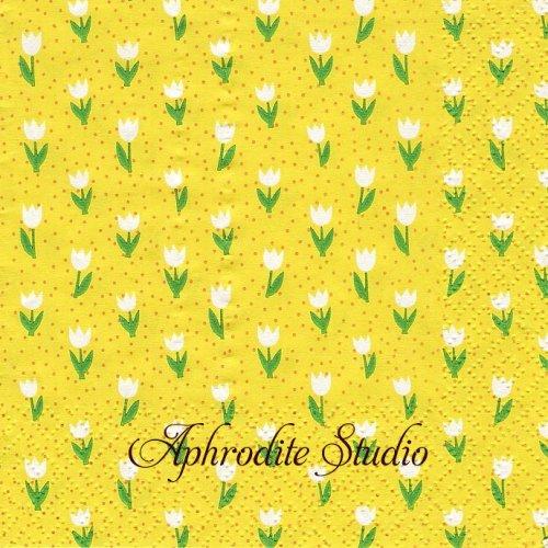 25cm Minitulips gelb 1枚 バラ売り ペーパーナプキン Atelier