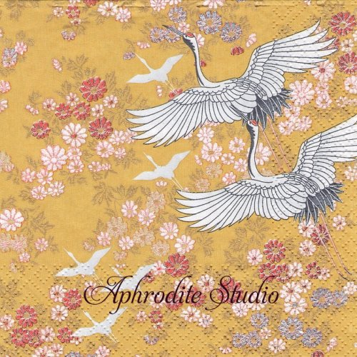 Kimono, safran1枚 バラ売り 33cm ペーパーナプキン Salon Boudoir