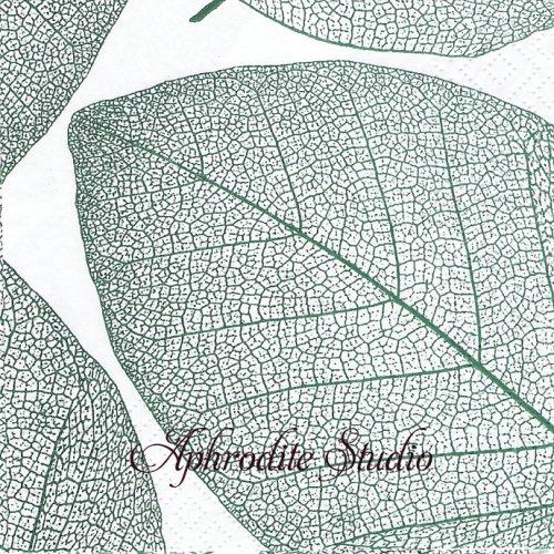 25cm Apart, smaragd 1枚 バラ売り ペーパーナプキン Salon Moderne