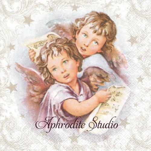 Two Christmas Angels 二人の天使 クリスマス  1枚 バラ売り 33cm ペーパーナプキン Daisy