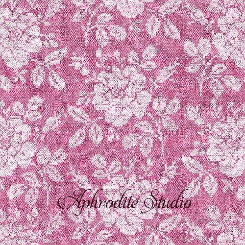 Broderie フーシャピンク 薔薇のレース 1枚 バラ売り 33cm ペーパーナプキン PAPSTAR