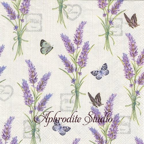 Lavender With Love ラベンダー1枚 バラ売り 33cm ペーパーナプキン Ambiente