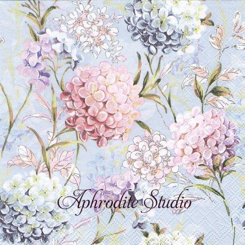 Horana Blue 紫陽花 1枚 バラ売り 33cm ペーパーナプキン Ambiente