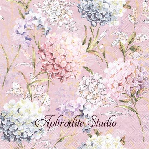 Horana Lilac 紫陽花 1枚 バラ売り 33cm ペーパーナプキン Ambiente