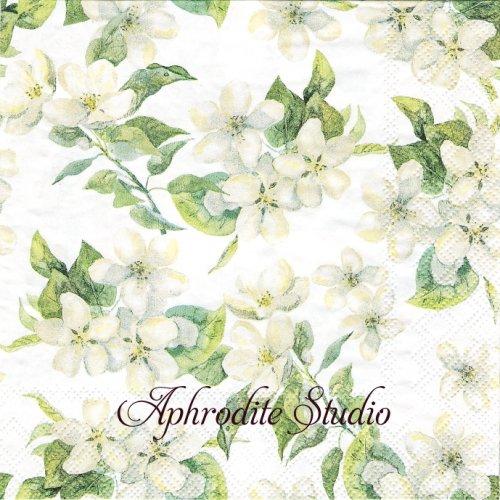 Cherry Blossom ホワイト 桜の花 1枚 バラ売り 33cm ペーパーナプキン Ambiente