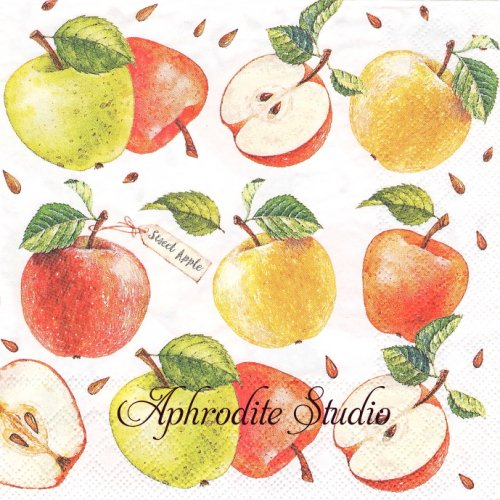 Sweet Apple 林檎 アップル 1枚 バラ売り 33cm ペーパーナプキン Ambiente