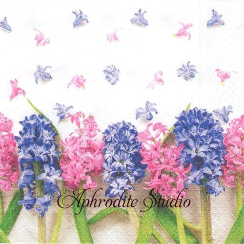 写真 Hyacinths ヒヤシンス 1枚 33cm  バラ売り ペーパーナプキン Paper+Design