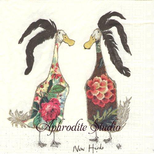 Chicks2羽の鳥 1枚 バラ売り 33cm ペーパーナプキン ppd