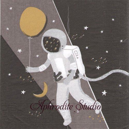 Capisco Astronaut 宇宙飛行士 1枚 バラ売り 33cm ペーパーナプキン ppd