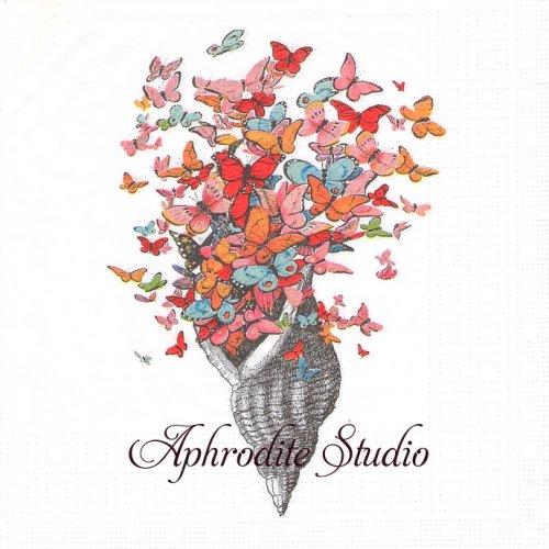 Seashell with Butterflies シェル 貝 蝶 1枚 バラ売り 33cm ペーパーナプキン ppd