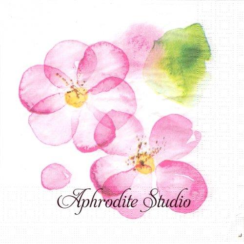 Blossom 大きなピンクのお花 1枚 バラ売り 33cm ペーパーナプキン ppd
