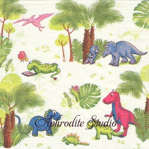 Dinos 恐竜  1枚 バラ売り 33cm ペーパーナプキン ppd