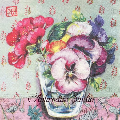 Madeleine パンジー SOPHIE ADDE 1枚 バラ売り 33cm ペーパーナプキン ppd