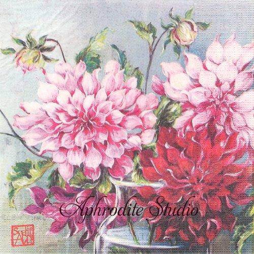 Pink Fusion ピンクの菊 SOPHIE ADDE 1枚 バラ売り 33cm ペーパーナプキン ppd