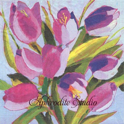Tulips Musee 1枚 バラ売り 33cm ペーパーナプキン ppd