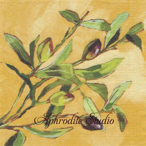 Olive Musee 1枚 バラ売り 33cm ペーパーナプキン ppd