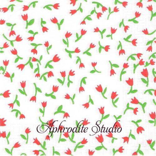 Tulip Confetti 1枚 バラ売り 33cm ペーパーナプキン ppd