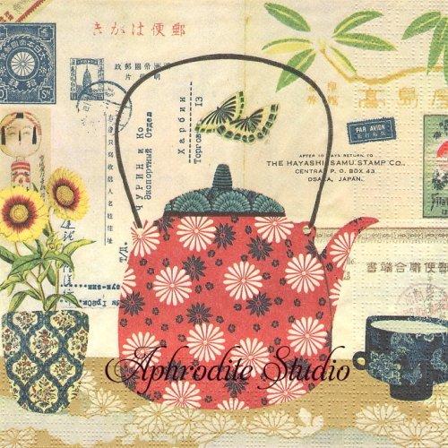 Le The ティー お茶 1枚 バラ売り 33cm ペーパーナプキン ppd