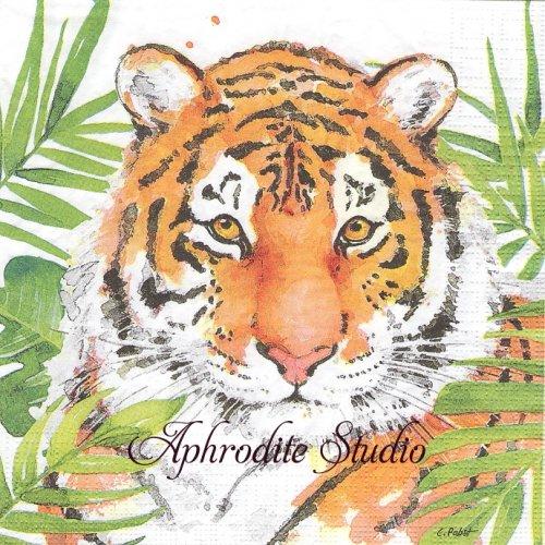Tropical Tiger 1枚 バラ売り 33cm ペーパーナプキン ppd