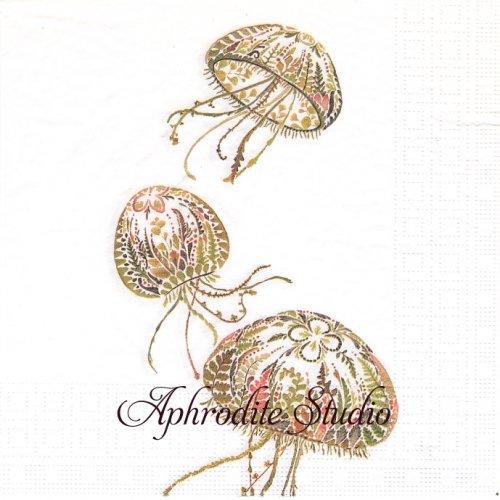 Green Medusa 1枚 バラ売り 33cm ペーパーナプキン ppd