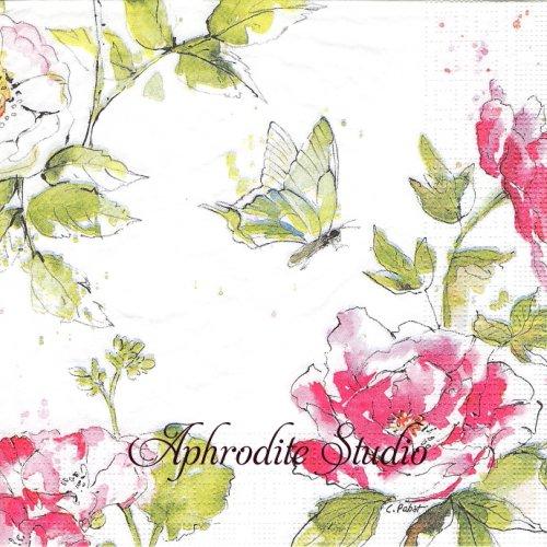 Summer Rose 1枚 バラ売り 33cm ペーパーナプキン ppd