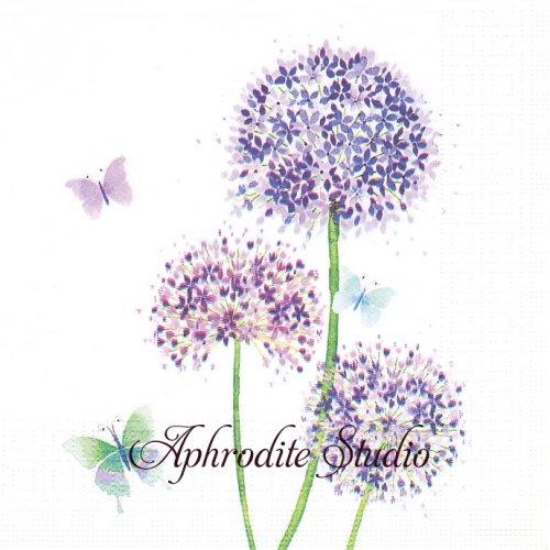 Allium アリウムの花 1枚 バラ売り 33cm ペーパーナプキン ppd