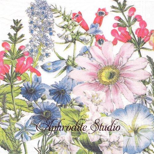 Floriculture あわ色の花畑 1枚 バラ売り 33cm ペーパーナプキン ppd