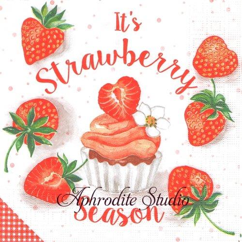 Strawberry Season 1枚 バラ売り 33cm ペーパーナプキン ppd