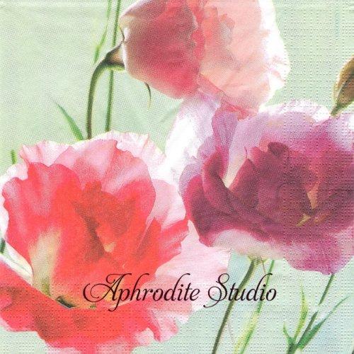 Pretty Lisianthus トルコキキョウの花1枚 バラ売り 33cm ペーパーナプキン ppd