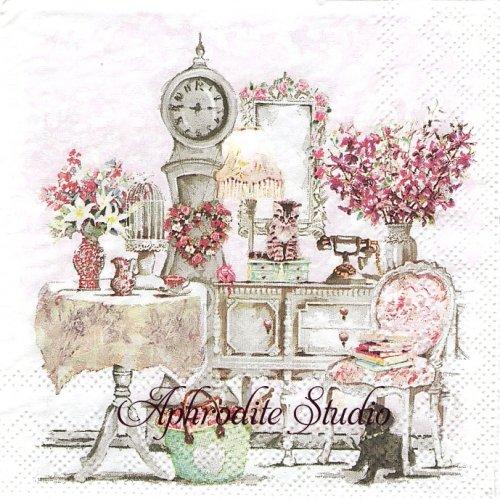 25cm ROOMMATES 子猫と子犬の部屋 1枚 バラ売り ペーパーナプキン Ambiente