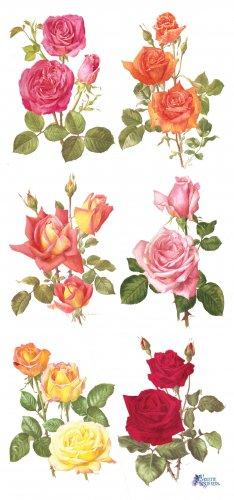 薔薇のステッカー 1シート ヴィクトリアン ステッカー シール ラッピング